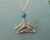 Meditate Necklace in sterling silver