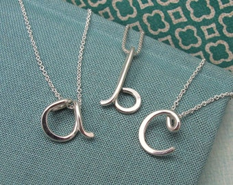 Custom Initial Pendant in sterling silver