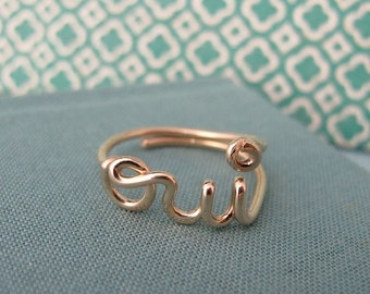 oui ring in 14k gold filled
