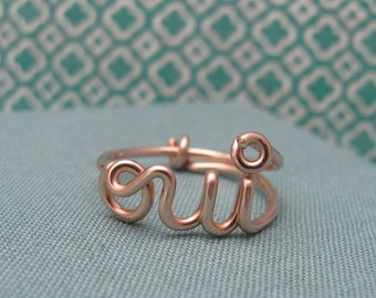 oui ring in Rose Gold Filled