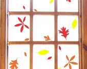 Autumn Leaves Wall or Window Decals (14 stickers)