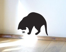 Spider and Cat Wall Sticker or Window Decal
