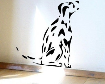 Dog Wall Sticker, Spotty Dalmatian Puppy Dog - Decal for Dog Lovers