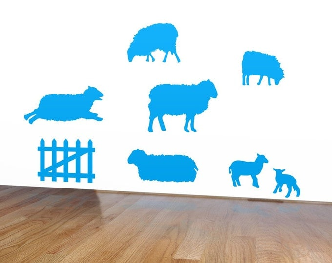 Sheep Wall Stickers, Lamb Decals