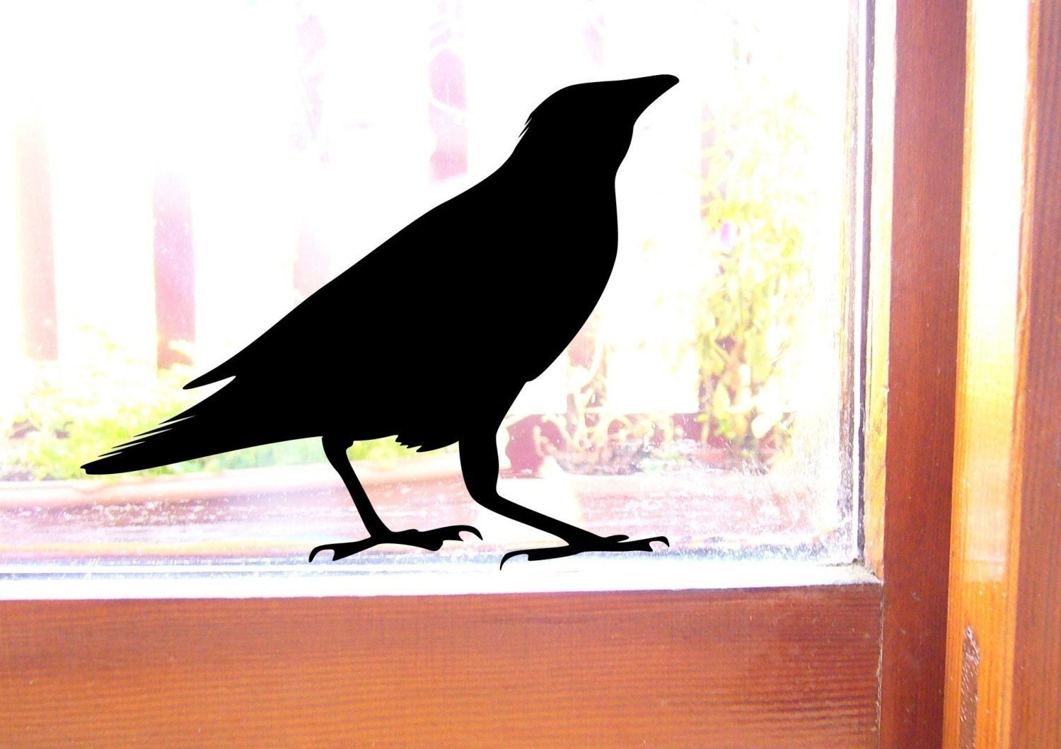 wall stickers decals 2 roselawnlutheran raven bird wall sticker or window sticker decals 2 black crow
