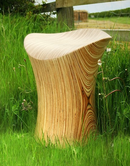 Wooden Stool, Stingray Stool Birch Wood Chair