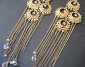An Evening of Glamour - 14K Gold-Plated Chandelier Earrings