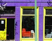 Graffiti inside Purple Shop