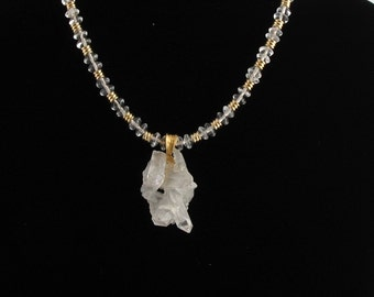 Quartz Crystal Necklace. Listing  40716056