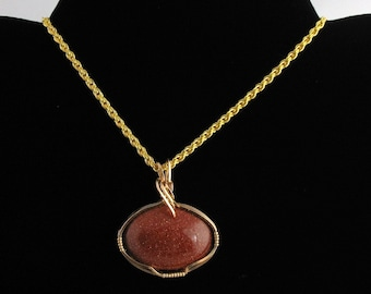 Goldstone Pendant. Listing 41308188