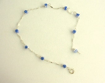 Glass Bead Anklet. Listing  46110458