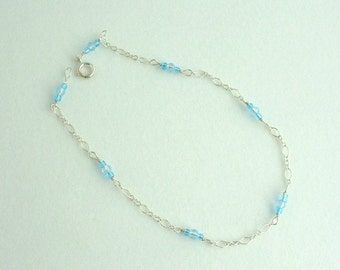 Glass Bead Anklet. Listing  46412390