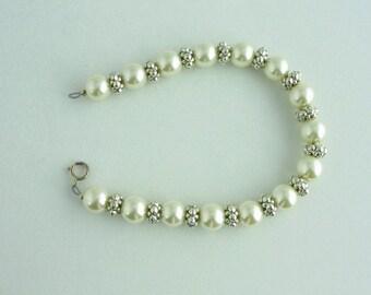 Glass Pearl Bracelet. Listing 46519971