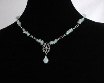 Aquamarine Necklace. Listing  52811656.
