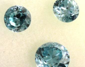Faceted Blue Zircon Set. Listing  56835426