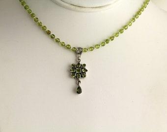 Peridot Necklace. Listing  80458512