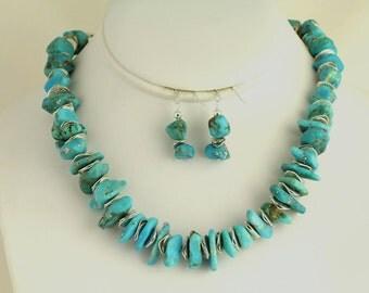 Turquoise Necklace Set. Listing 84287870