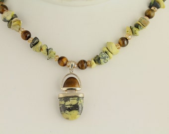 Jasper and Tiger's Eye Necklace Set. Listing 85355082