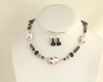 Glass Bead Necklace Set. Listing 88678361