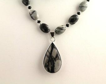 Gray Jasper Necklace Set. Listing 93625967