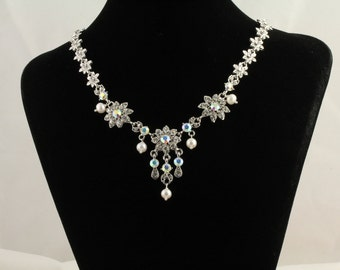 Rhinestone and Freshwater Pearl Necklace Set.Listing  94423505