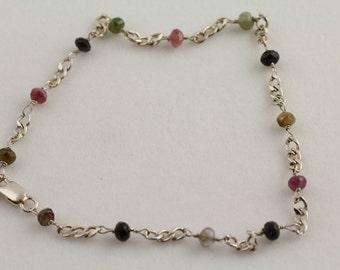 Tourmaline Anklet Bracelet. Listing  95959589
