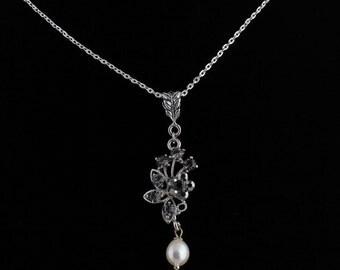 Bridal Pearl Pendant.Listing  96342473