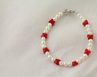 Freshwater Pearl and Swarovski Crystal Bracelet. Listing 96861136