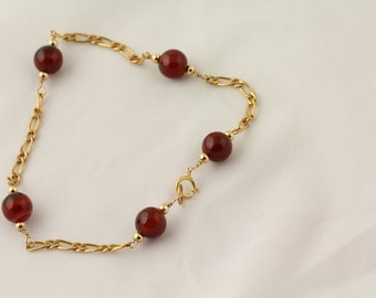 Agate Bead Bracelet. Listing 97340202