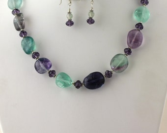 Fluorite Necklace Set. Listing 98414978
