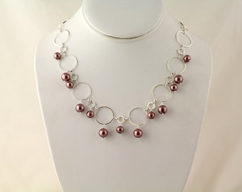 Glass Pearl Necklace. Listing 98417981