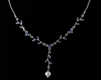 Rhinestone and Freshwater Pearl Necklace Set. Listing  99697686