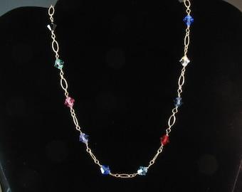 Bridesmaid Rainbow Necklace. Listing  25057376