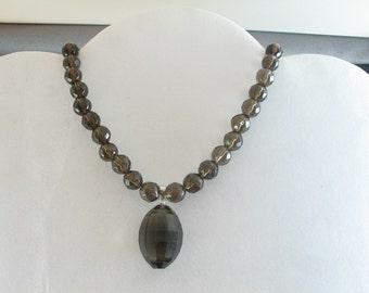 Smoky Quartz Necklace. Listing  25774477