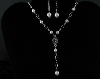 Bridal Freshwater Pearl Necklace Set. Listing  26754613