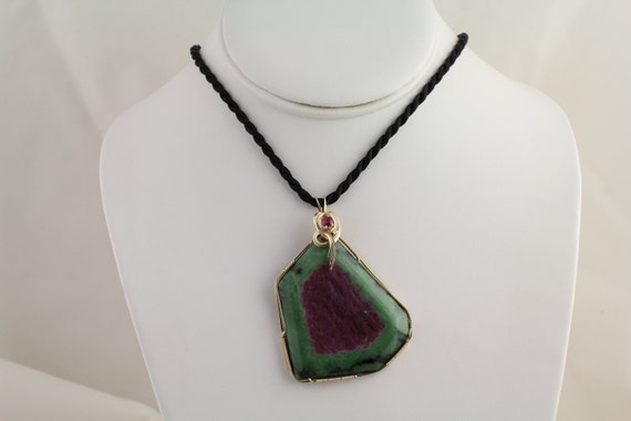 Ruby in Zoisite Pendant. Listing  96037159