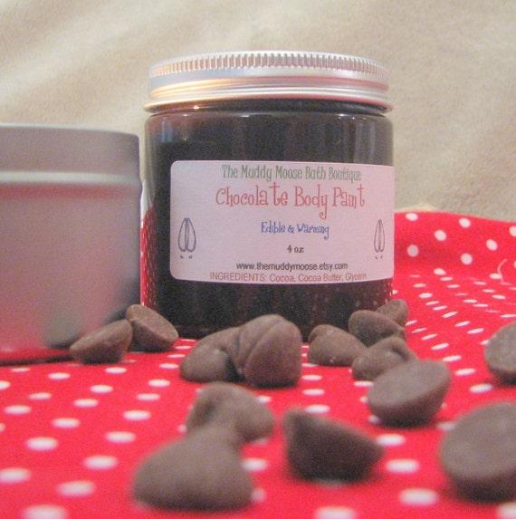Edible Chocolate Body Paint in 4 oz Jar
