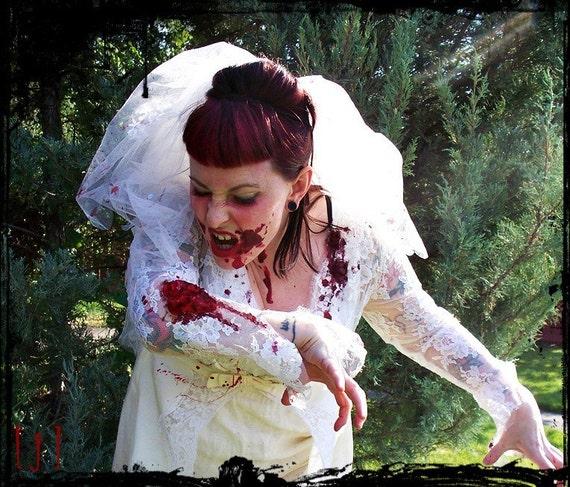 Zombie Bride Wedding Dress Costume By Squarejane On Etsy