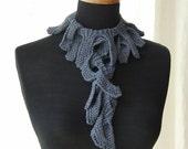 SALE sea breeze scarf in bamboo yarn FREE SHIPPING