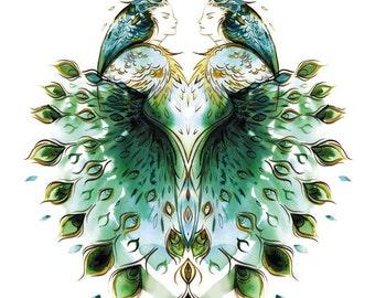 pride peacock-8.5x11 print