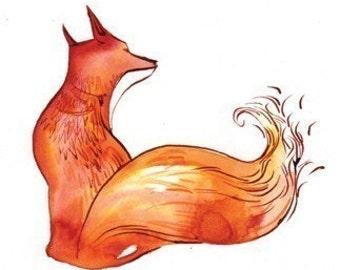 red fox -8.5x11 print