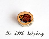 Black Friday & Cyber Monday 10% OFF- Hedgehog brooch wood animal pin