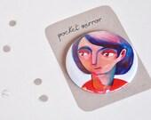 Pocket mirror girl portrait
