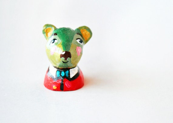 OOAK figurine miniature mister raccoon