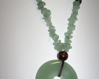 26 Inch Aventurine Necklace