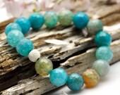 Blue Agate Beaded Bracelet - 100% of Profit Goes to Baby Tara