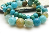 Beaded Turquoise Bracelet with Sterling Silver