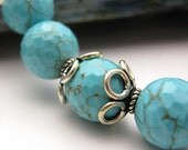 10% OFF Faceted Turquoise Beaded Bracelet under 50