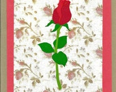 Single Red Rose Card (any occasion)