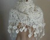 Ivory Beige Floral Woman Shawl-Wedding Shawl-Summer Wedding-Bridal Scarves-Wedding Shawl On Bridal Dress
